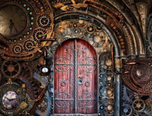Porte Steampunk
