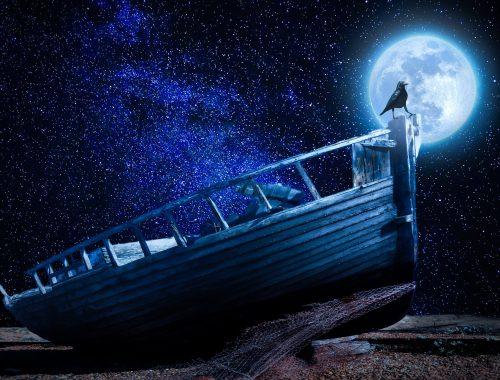 Epave au clair de lune