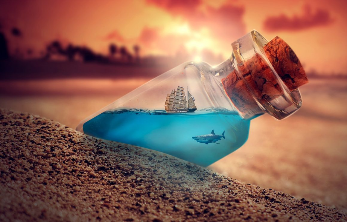 Une bouteille à la mer